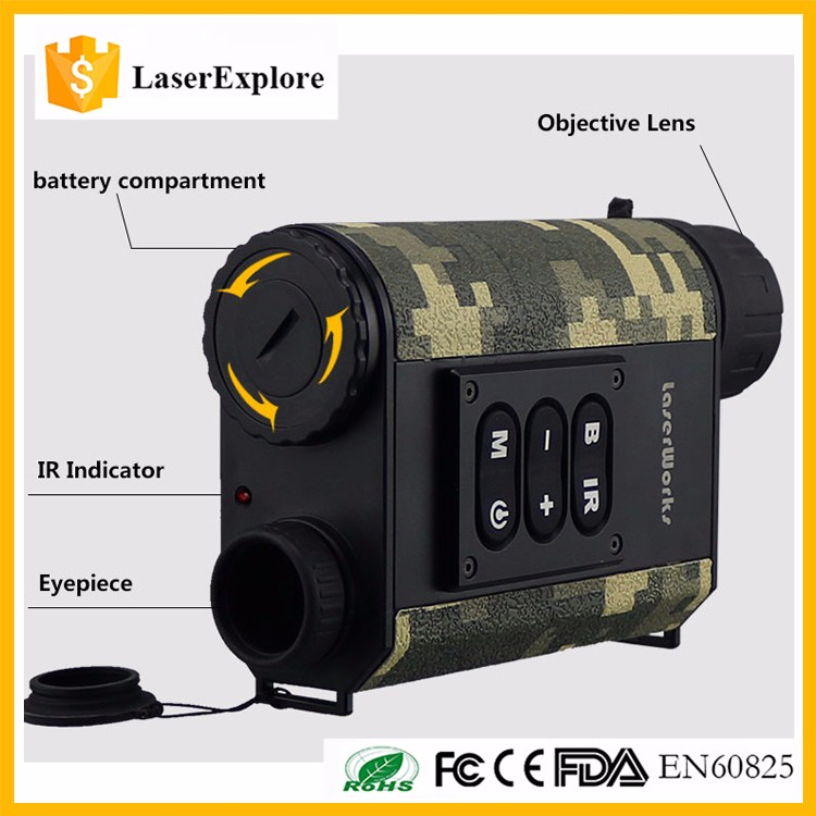 LaserWorks OEM LRNV009 hunting laser range finder laser hunting night vision infrared