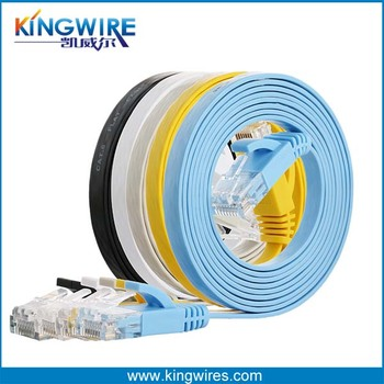 High speed cat 6 patch cord 250MHz 32awg bc utp flat patch cord