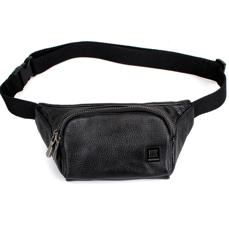 New fashion!Convenient real leather durable men waist bag sport, animal waist bag