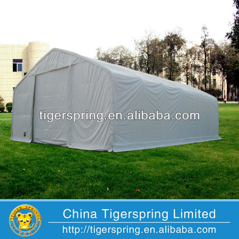 big industrial motorcycle storage tent