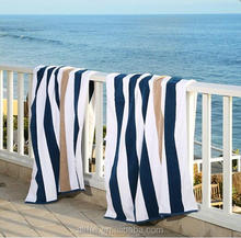 Hot selling 2017 amazon good quality yarn dyed organic cotton fabric thickness velour beach towel for chair