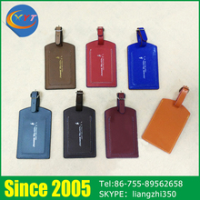 Different Colors Unique Bag PU Leather Luggage Tags For Travelling