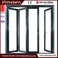 Energy saving sliding glass door insulated glass star hotle balcony bi fold door