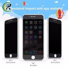 9H anti-spy protector screen for apple iPhone 7 anti-peeping privacy tempered glass screen protector