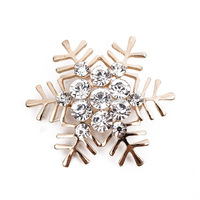 Wholesale Christmas Rhinestone Crystal Snowflake Brooch