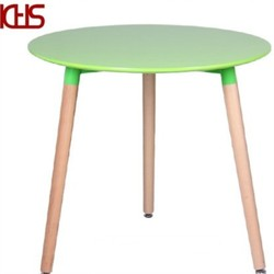 Wooden Leg Plastic Round 80cm Outdoor Dining Table