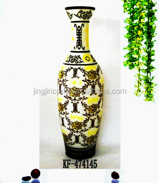 Big overlay glass flower vase/Big decoration for home/Best gifts for friends