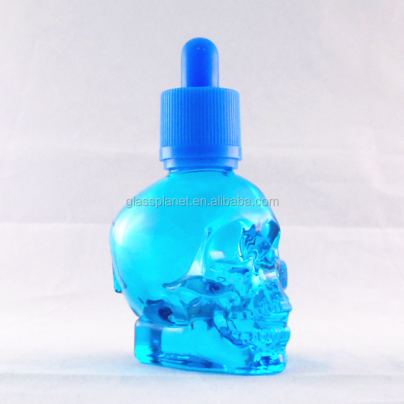 Glass Skull Dropper Bottle Liquid Fragrance Perfume Essential Oil Container