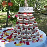 Quality professional clear acrylic wedding cake stand table