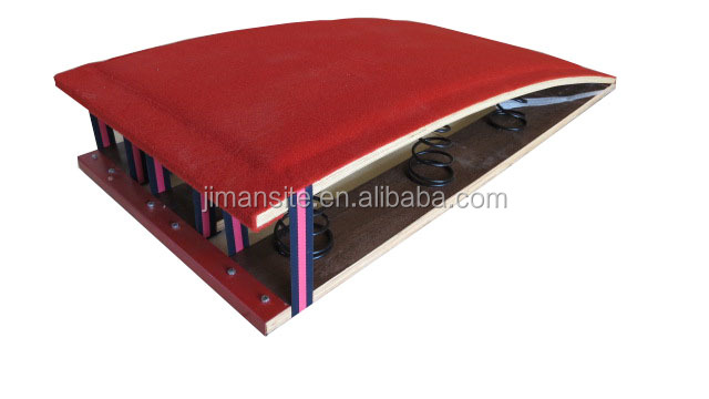 Professional wood core gymnastic spring board with 9 high quality springs for sale