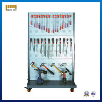 portable metal pegboard workshop hanging tool display rack