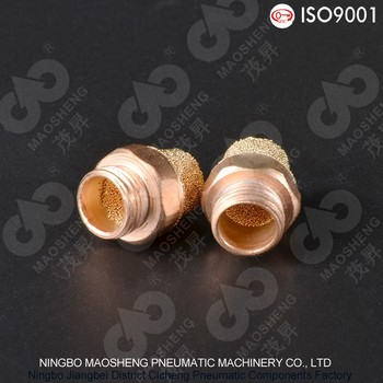 SEB-S Type Sintered Muffler Steel Nipple Copper Muffler