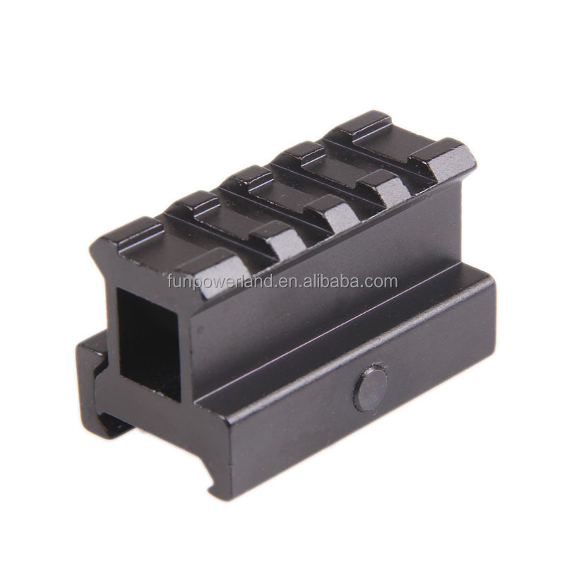 Funpowerland 1inch Height 4 Slots AR See-Through Riser Mount
