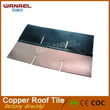 Europe style fish scale copper roof tile, esay to install and heat insulation copper shingle for roof tile