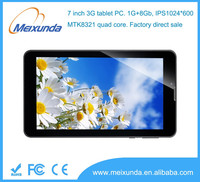 7 inch city call android phone tablet pc quad core 3G tablet pc MTK8321