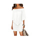 White Off the Shoulder Ruffle Mini Lady Dress Sexy Club Party Prom Dress Women Casual Dress