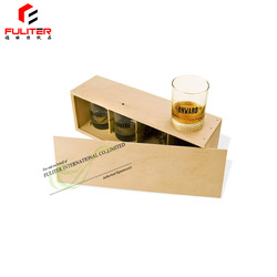 High Quality Luxury Wood Box For Wine Glasses