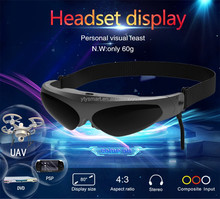 Factory price video glasses,80'' eyewear portable FPV glasses
