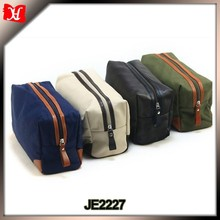 Top Quality Fashion Canvas Makeup Travel Toiletry Bag For Men Cosmetic Bag
