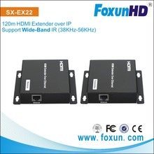 120m HDMI extender over IP network matrix many to many video/audio distribution over single Cat5e/6
