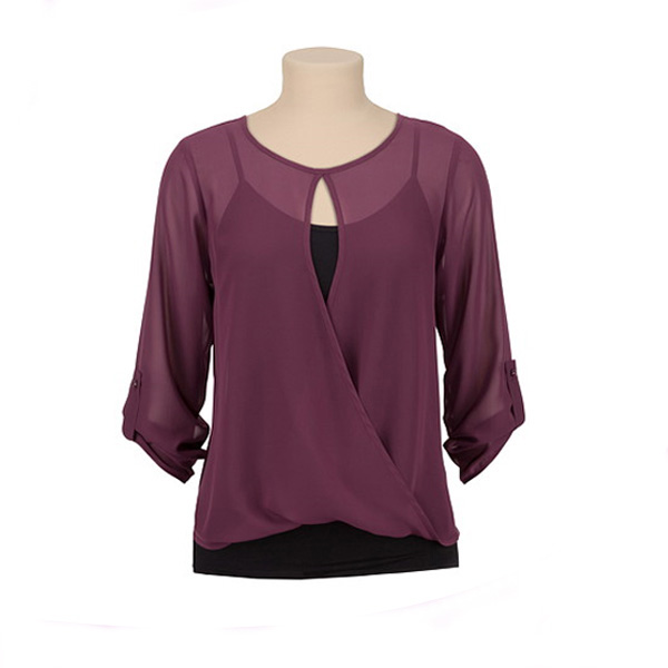 Latest chiffon tops and shirt new style blouse back neck design