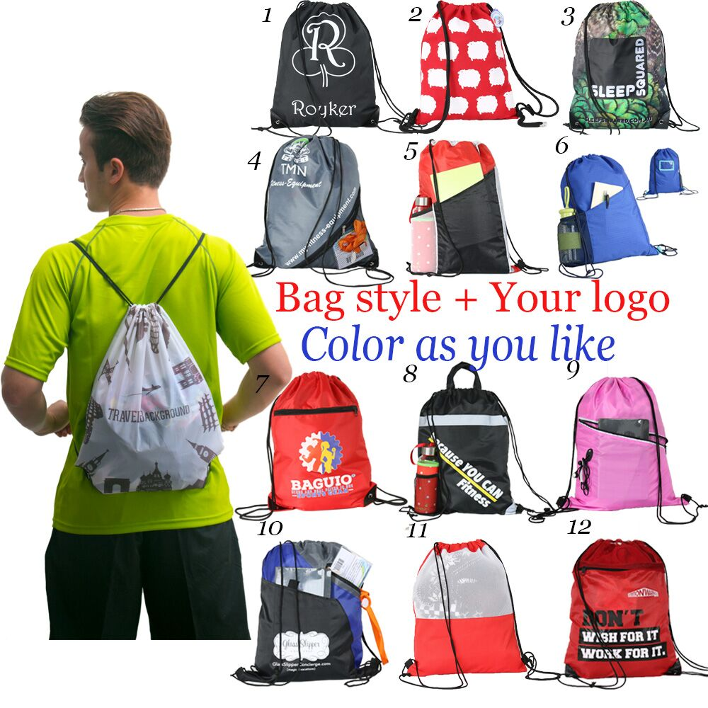High quality custom logo and size cotton drawstring bag