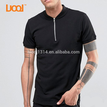 Wholesale High Quality Blank Plain 65% Cotton 35% Polyester Custom Embroidery Logo Design Mens Black Slim Fit Polo