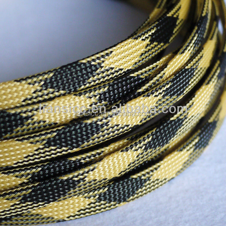 flexiblePET/PP/nylon braided expandable cable sleeving