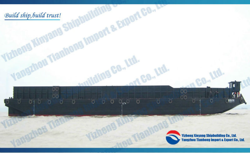 230ft 4000t steel flat deck cargo container barge for sale