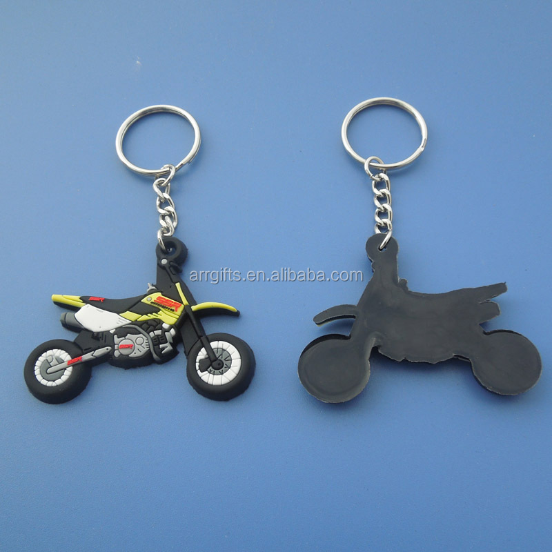 Motorcycle Keyring, Custom Logo 3D Rubber Keychain, Hot Sale Promotional PVC Keychain