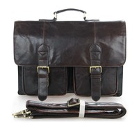 7105-2Q China Suppliers Custom Genuine Rolling Trolley Leather Laptop Bag