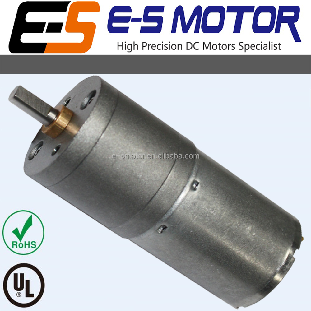 UL & RoHS compliant high torque 25mm 6V gear motor