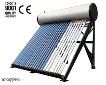 Integrated Copper Coil Pre-heated Solar Water Heater Pressurized With Vacuum Tube
