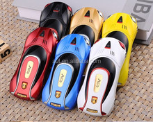 Hot sale Sport car shape mobile phone F1 with six color for choice