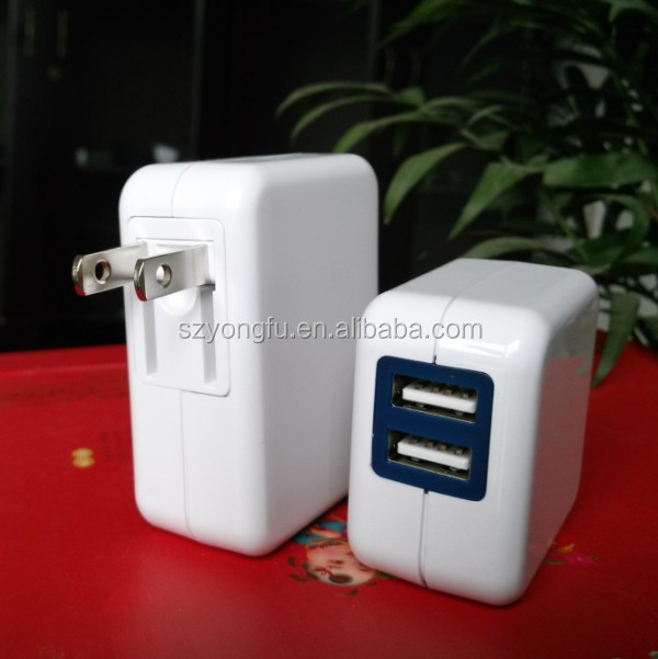 2014 Hot Sale USB Charger UL FCC Proved 2 usb power adapter for samsung galaxy tab