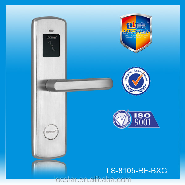 stainless steel contactless temic card hotel door lock rf system