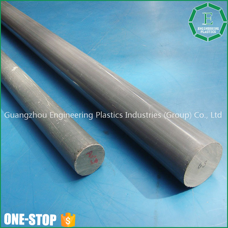 Guangzhou customized plastic material rods tough hard pvc round plastic bar