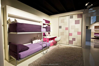 Wall bed furniture mechanism kids double deck bed