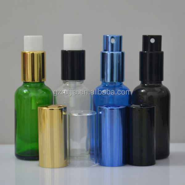 30ml 50ml 100ml glass spray bottles with aluminium