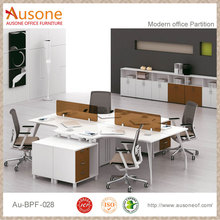space saving furniture 4 seat office desk partition workstation