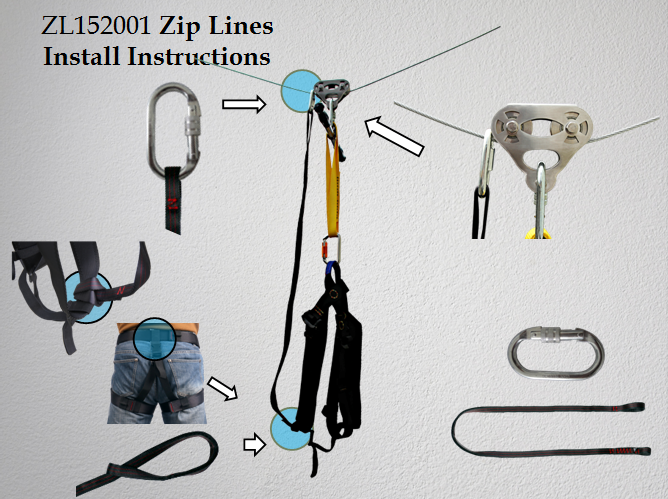 CTSC Heavy Duty Zip Line Cable Trolley Pulley to Bring in Colorful Fun and Many Enjoyments