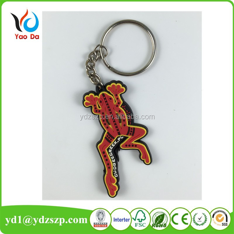 Custom Cute Live Animal Soft Pvc Rubber Frog Keychain