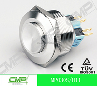 cmp 30mm metal IP67 waterproof momentary push button switch