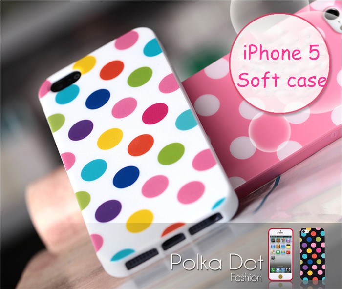 For iphone 5 case polka dots, Korea Fashion IMD Polka Dots mobile phone covers for iPhone 5 case