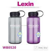 wholesale clear plastic drinking water bottle with handle