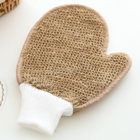 Promotion Natural Sisal Weave Scrubber Bath Scrub Mitt Glove with sponge