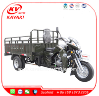 200CC Five Wheel Motor Cargo Tricycle With Double Rear Wheels Heavy Loading 2000KG