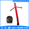 Single leg inflatable promotional air dancer with blower, red advertising inflatable flying man