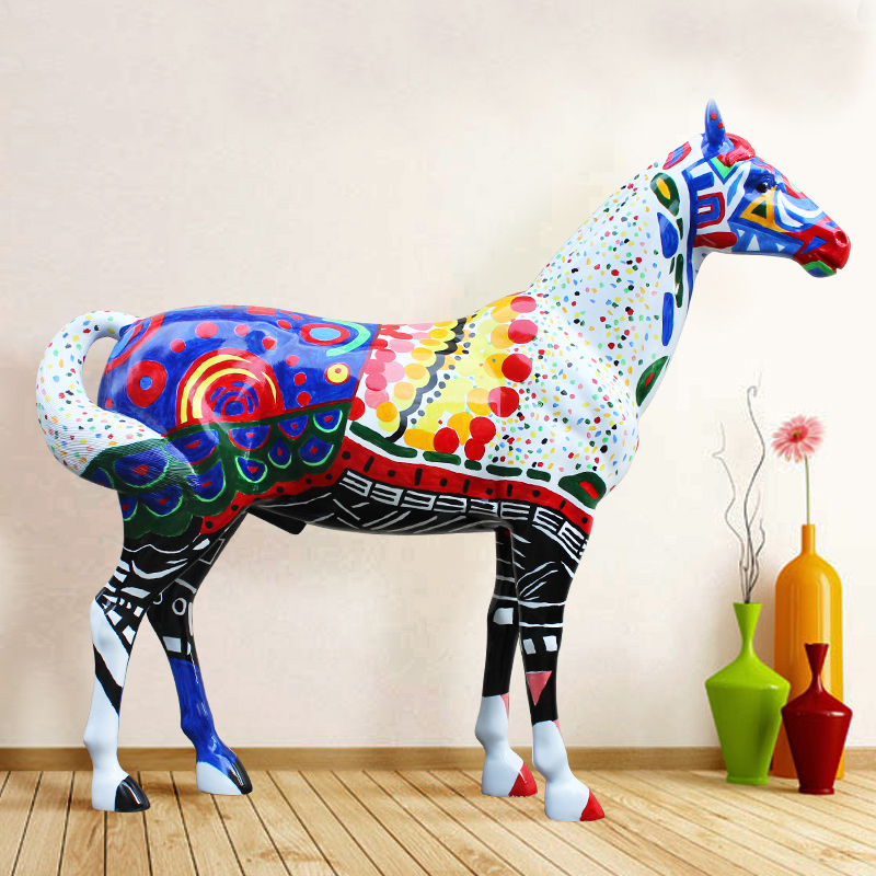 sales promotion designer home decor lifesize fiberglass horse