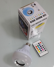 new products led light bluetooth speaker 12 colors changing light 12w led bulb e27 music with remote by free APP